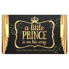 Prince Baby Shower Black Gold Crown Drapes