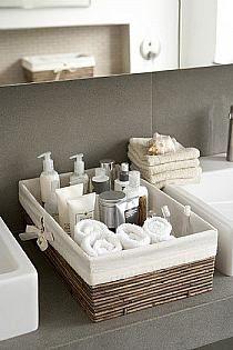 Bathroom organising basket