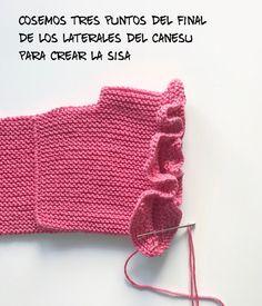 Canesu Volantes Sisa :: Miloti Y Punto Stricken Sie Baby Kleidung - Diy Crafts Knitted Baby Cardigan, Baby Pullover, Knitted Baby Clothes, Knitted Hats, Crochet Bikini Pattern, Crochet Fabric, Crochet Cardigan Pattern, Baby Girl Crochet, Crochet Baby Booties