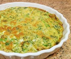 HELENA BOURMAULT in the kitchen: Crustless Cheeseless Broccoli Quiche