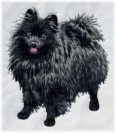 Detailed design documentation - colors, thread consumption, etc. Dog Pattern, Pattern Design, German Spitz, Dog Design, Lion Sculpture, Statue, Embroidery, Dogs, Animals