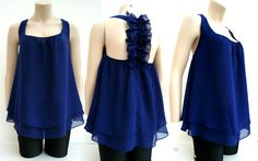 Top Tunika Longshirt Babydoll Oberteil Blusentop Shirt blau Gr.36,38,40,42 NEU