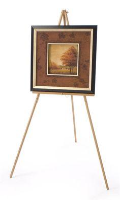 Wood Display Easel For Floor Standard Tripod Design 34 X