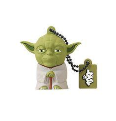 Memoria USB Yoda 16 GB. Star Wars Hazte con la exclusiva memoria USB con la forma del maestro Jedi Yoda visto en Star Wars con capacidad para 16 GB. 100% oficial y compatible con Windows y Mac.
