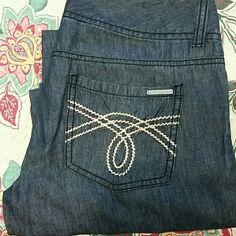 Michael Kors  cotton and linen Jeans Gorgeous cotton and linen  Michael Kors jeans. With two button and zipper closure. Michael Kors Jeans
