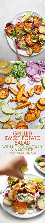 Grilled Sweet Potato Salad [paleo-friendly, grain-free, gluten-free] | Lexi's Clean Kitchen