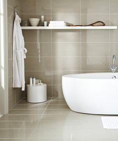 Find This Pin And More On Bathroom Polished Floor Tiles Extending Up Bathroom Wall