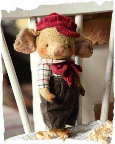 Сказки стареньких игрушек: Ещё Хрюнечка :) Sock Animals, Plush Animals, Stuffed Animals, Paper Dolls, Art Dolls, This Little Piggy, Holly Hobbie, Bear Doll, Stuffed Animal Patterns