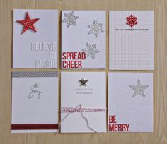 December Daily 3x4 cards by stampincrafts at @Studio_Calico