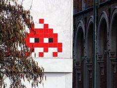 street art & graffiti Brussels - Space Invader