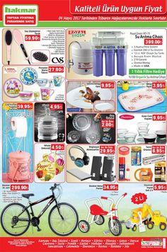 Hakmar marketlerde aktüel ürün kampanyaları sürüyor. Hakmarda bu hafta4 Mayıs - 11 Mayıs 2017 tarihleri arasında geçerli olacak indirimli ürün fırsatlarını aşağıdaki kampanya kataloğunda inceleyebilirsiniz. Hakmar farklı türde ürünlerle karşımızda. Erkek ve bayan herkesin ilgisini çekecek ürünler mevcut.   Hakmar aktüel ürünler listesi Royal Green RO-75 Su Arıtma Cihazı 399 TL CVS Saç Düzleştirici Tarak 59,90 TL Güral Porselen Mama Takımı 27,90 TL Luminarc Opal Servis Tabağı 9,95 TL Metal…