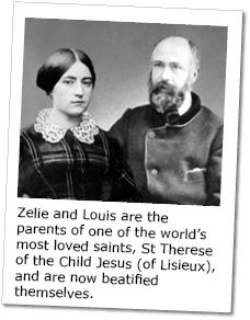 Bl. Zelie & Louise Martin, the parents of the Little Flower, St Therese of Lisieux.