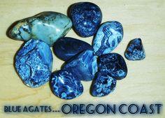 blue agates found on the oregon coast
