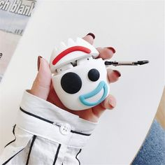 Cute Cartoon Toy Story 4 Fokry Headphone Cases For Apple Airpods Lovely Silicone Protection Earphone Cover Accessories Cute Headphones, Wireless Headphones, Cute Ipod Cases, Iphone Cases, Disney Phone Cases, Fone Apple, Airpods Apple, Deco Disney, Accessoires Iphone