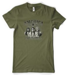 (Cybertela) America Love It Or Give It Back Womens T-shirt Funny Native American Tee (Olive Green X-Large)