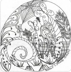 Fiscu Zentangle by Cookie's Crafts, via Flickr