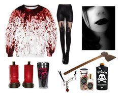 """Creepypasta"" by smoll-lili ❤ liked on Polyvore featuring Dr. Martens, Valfré and Voluspa"