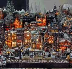 Christmas Village Displays - Bing Images                                                                                                                                                                                 More