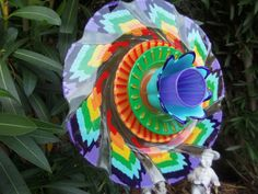 One of a kind glass garden flower will brighten any section of your yard for now and always, it never needs water or fertilizer to maintain its