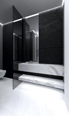 Drie soorten marmer in dezelfde badkamer geeft stijl en allure. Een 5 sterren gevoel in uw eigen badkamer creëren.