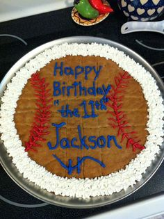 Peanut Butter Cookie for Jackson's Bday.