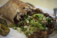Carne asada burrito Francisco's style at Francisco's De La Noche