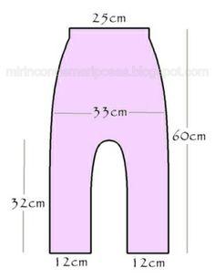 Pantalón sarouel talla 3 años útil, fácil y necesario Este otro pantalón lo hice…