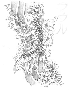 japanese koi fish tattoos | Japanese Koi Fish Tattoo Designs Gallery