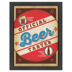 Add a vintaged touch to your game room or home bar with this eye-catching framed print, showcasing a beer motif and typographic details.   ...