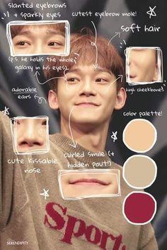 Yeah that's my baby❤❤🐊❤❤ Baekhyun Chanyeol, Exo Chen, Exo Ot12, Chanbaek, Bts Memes, Kai, Picsart, Luhan And Kris, Face Anatomy