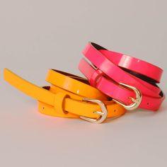 Neon Skinny Belts!