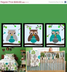 ON SALE 40 OFF Owl Art for Nursery Matches Dwell by LittlePergola, $19.80
