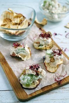 Csirkés Waldorf-saláta recept - Kifőztük, online gasztromagazin Falafel, Camembert Cheese, Dairy, Food, Essen, Falafels, Meals, Yemek, Eten