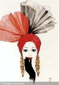 GRUAU René,Design for Cover of Harper's Bazaar,Christie's,New York
