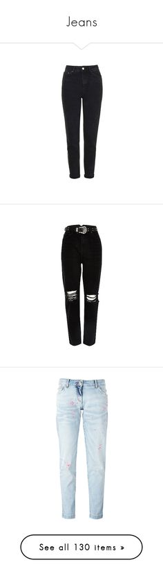 """""""Jeans"""" by tacoxcat ❤ liked on Polyvore featuring jeans, pants, bottoms, jeans/pants, calças, washed black, highwaist jeans, high waisted skinny jeans, cuffed jeans and high rise jeans"""