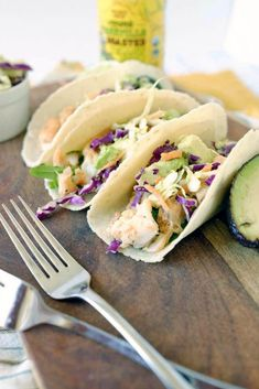 Our paleo fish tacos and coleslaw are made with a simple blend of spices creating a masterful flavor punch and topped with slaw that is light and zesty. Fish Taco Recipe With Slaw, Paleo Fish Tacos, Paleo Recipes Easy, Healthy Breakfast Recipes, Side Dish Recipes, Fish Recipes, Delicious Recipes, Primal Kitchen, Shrimp Pasta Recipes