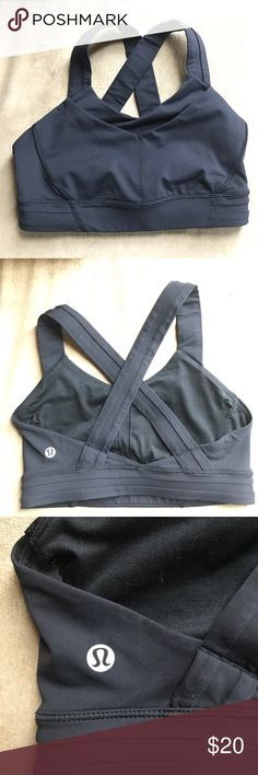Lululemon sports bra, size 4 Black lululemon sports bra, size 4, no rip tag. Fits more snug around the rib cage than my other size 4 lululemon bras. Worn once. Pads not included, but there are slots for pads. lululemon athletica Intimates & Sleepwear Bras