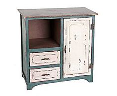 Mueble con dos cajones, 1 armario y 1 estante