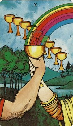 Morgan Greer - This is the second time I drew the 10 of Cups today! ~ Bhavya Mystic