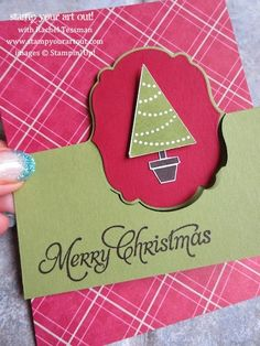Stampin' Up!® Thinlits Card Die Christmas Card - Stamp Your Art Out!