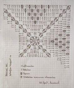 Two needle socks – free knitting pattern: free knitting pattern # knitting… Again the mouse gray crochet blanket Plaid Au Crochet, Crochet Diy, Crochet Motifs, Crochet Blocks, Crochet Diagram, Crochet Chart, Crochet Squares, Crochet Home, Crochet Granny