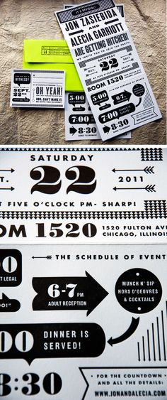 Love this idea for the schedule or events and invite!! Showbox/Theatre/Movie theme