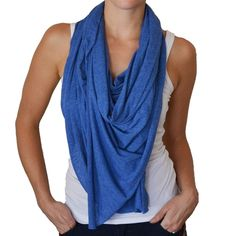Active Scarf Indigo - seems perfect for traveling!