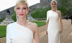 Cate Blanchett stuns in figure-hugging white gown