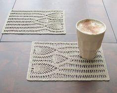 Linen hand crochet napkin natural linen color by daiktuteka, $15.00