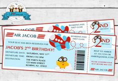 Airplane Birthday Party Invitation by LilFacesPrintables on Etsy, $11.95