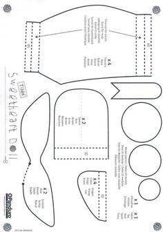 Book of Tilda 2015 - Pattern Felt Crafts Patterns, Doll Patterns Free, Doll Sewing Patterns, Doll Clothes Patterns, Fabric Doll Pattern, Fabric Dolls, Baby Sewing, Free Sewing, Tilda Toy