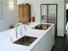 keukenblad wit rvs - Google zoeken