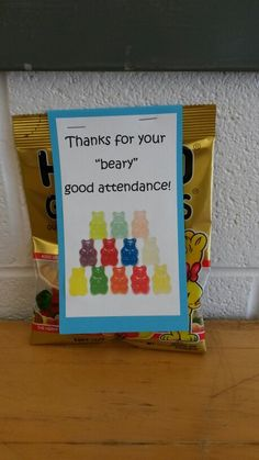 Perfect attendance gift                                                                                                                                                     More