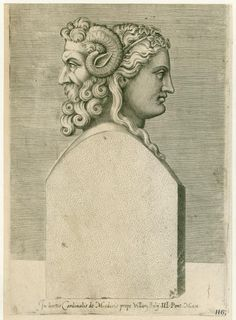 Bust of the Roman God Janus, after whom the island of Janus is named.